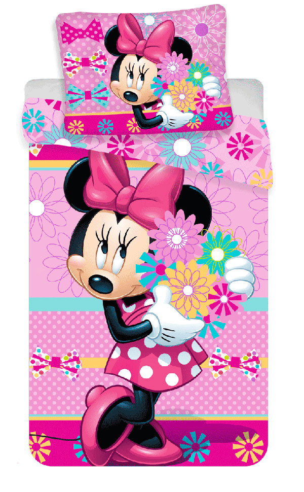 Povlečení Minnie Bows and flowers 140/200