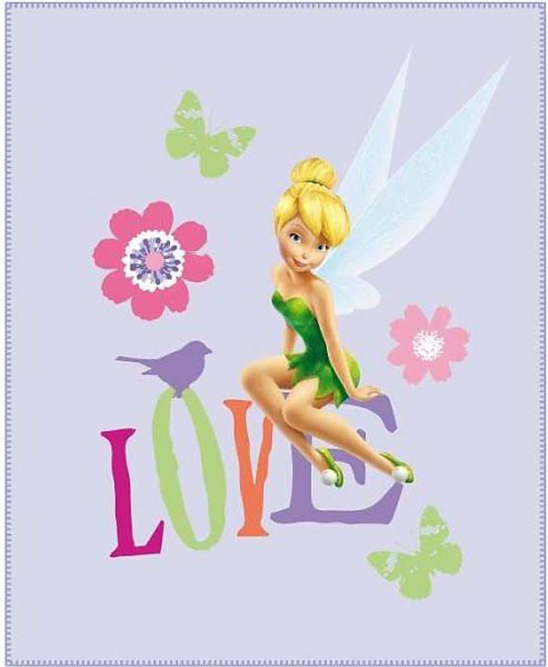 Fleece deka Fairies Love 110/140