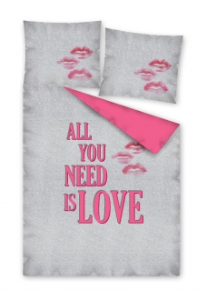 Povlečení All you need is LOVE 140/200, 70/80