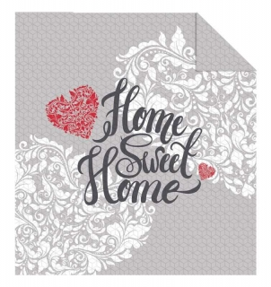 Přehoz na postel Home Sweet Home grey 170/210